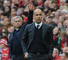 Victory for Guardiola meant he came out on top in his rivalry with United boss Jose Mourinho
