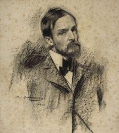 Portrait of Lucien Simon Ramon Casas y Carbó – 1900