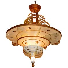 Spectacular Art Deco Original Movie Palace Chandeliers 9000 4 available