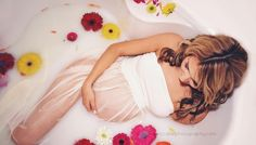 Milk Bath Maternity Photography Session with beautiful Tiffany. Such a stunning momma.  By Lena McCabe Photography www.lenamccabephotography.com