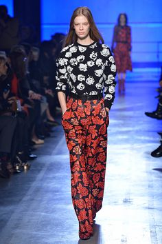 Who Won PFW? It's A 41-Way Tie #refinery29  http://www.refinery29.com/paris-fashion-week#slide20  A perfect printed set from Emanuel Ungaro.