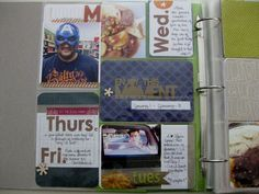 Love the days of the week journaling cards