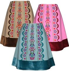matryoshka skirt pink russian nesting by madewithlovebyhannah