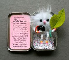 38 amazing things you can do with an empty Altoid tin box.  Some simple, some super crafty, some awesomely functional, some special keepsakes, and lots just for fun. This would be awesome as a keepsake as a gift/favour etc
