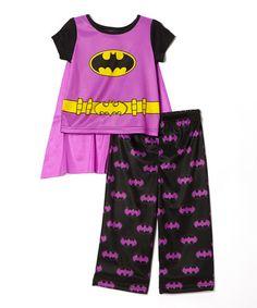 Lavender Batgirl Pajama Set