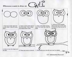 T. Matthews Fine Art: First Friday Art Class - November 2013 - Owls Extravaganza