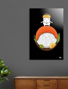 Discover «My Planet_Sushi Land», Exclusive Edition Aluminum Print by seok won Kim - From $59 - Curioos