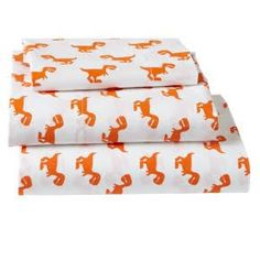 Shop Little Prints Toddler Sheet Set (Orange Dino). The prints might be little, but they& big on style. Little Prints Toddler Sheet Set features a herd of orange dinos on a neutral background. Kids Sheet Sets, Toddler Sheet Set, Crib Bedding, Bedding Shop, Comforter Set, Dinosaur Comforter, Toddler Pillowcase, Toddler Bed, Baby Store