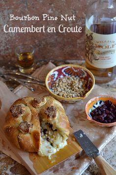 Bourbon Pine Nut Camembert en Croute