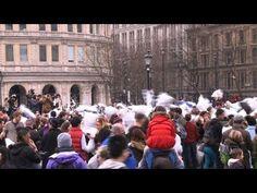 Se Desata Una Masiva Pelea De Almohadas En Londres #Video