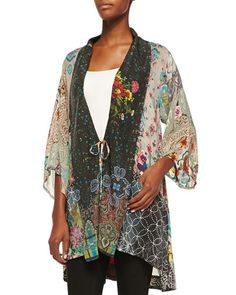 Johnny Was Collection Mix Megnesia Printed Kimono