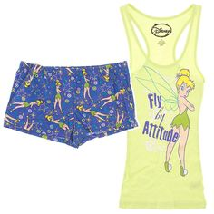 Tinker Bell Shorty Pajamas for Juniors - Disney Pajamas for Women