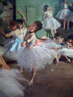 Impressionism: Degas Dance Lesson detail with Center Dancer Ballerine Degas, Dance Images, Dance Lessons, Edgar Degas, Museum Of Fine Arts, Art History, Watercolor Art, Renaissance, Illustrations