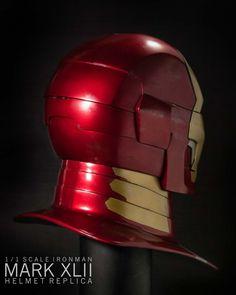 ironman mk42-11 Iron Man Helmet, Iron Man Suit, Ironman, Interstellar, War Machine, Tony Stark, 3d Printing, Cosplay, Sculpture