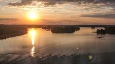 Sunset at Rönnäs Loviisa, Finland. -