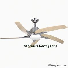 Fantasia 110941 54in viper stainless steel ceiling fan with light fantasia viper plus 44 ceiling fan with light stainless steel aloadofball Choice Image