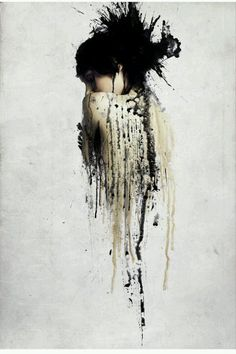 I like the dripping style of this painting and how its abit crazy with the black paint.