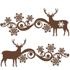 Reindeer Snowflake Flourish Set: November 2015 Miss Kate Cuttables-- SVG scrapbook cut file cute clipart files for silhouette cricut pazzles free svgs free svg cuts cute cut files
