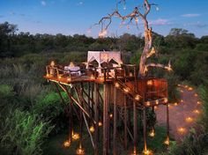 "Rooms: 95.5 Service: 100 Food: 95.5 Location: 100 Design: 95.5 Activities: 100 Set on the banks of the Sabi River, this ""very luxurious family-run resort"" on 10,000 acres comprises two lodges and a family camp. Ivory Lodge rooms, done in ebony and ivory, have African artifacts and views of the river through oversized windows or from private viewing terraces. Rooms in the River Lodge, in cream and beige, have freestanding tubs and indoor and outdoor showers. ""Excellent game viewing"" includes…"