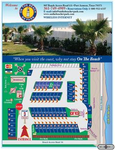 """On the Beach RV Park"" in Port Aransas, Texas. California Beach Camping, Camping In Texas, Camping Places, Camping Spots, Camping Water, Camping Stuff, Southern California, Texas Rv Parks, Best Rv Parks"