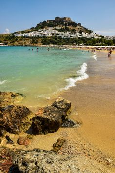 Lindos Beach - Rhodes, Greece #traveltoGReece