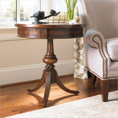 Hooker Furniture Seven Seas Round Pedestal Accent Table - 500-50-828