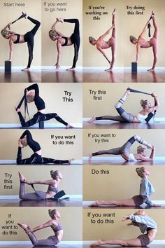 """YOGA If this is your goal - Practice this!. ✰ Check out """"LOVE and YOGA"""" Shirt - CLICK this Pin! Dancer Workout, Gymnastics Workout, Gymnastics Stretches, Fitness Workouts, Yoga Fitness, Yoga Training, Gym Workout For Beginners, Yoga Moves, Flexibility Workout"""