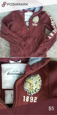 BUNDLE ONLY **with at least one more item Abercrombie kids hoodie large indian native american embroidery Great shape! 7-6-17 abercrombie kids Shirts & Tops Sweatshirts & Hoodies