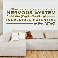 The Nervous System holds the key to the body's incredible potential to heal itself. - Sir Jay Holder - Chiropractic Decal - 0130