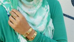 Hijab_Green And Gold By Haute Muslimah