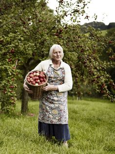 Farmer's Wife bringing Home the Apple Harvest ....