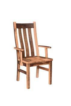 Rustic Barn Wood Branson Dining Chair