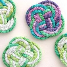 Ever wondered what to do with all that french knitted cord you've made. Why not try out some nautical knotting and make a set of coasters?
