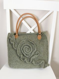 Knit and Felted Purse Pattern Knit Bag by DeborahOLearyPattern