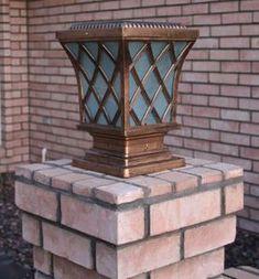 Premium Classic Solar Pillar Light In Bronze Solar Lamp Post Light, Solar Light Bulb, Solar Post Lights, Lamp Post Lights, Solar Powered Deck Lights, Solar Powered Lamp, Bollard Lighting, Fence Lighting, Outdoor Lighting