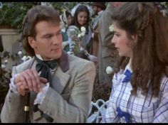 Still of Kirstie Alley and Patrick Swayze in North and South (1985)