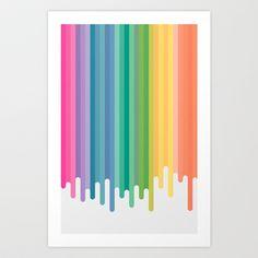 Colour Drip Art Print by James Landing - $13.52