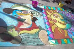 The Fourth Annual Cambier Park Chalk Art contest for adults and school-age children was held Saturday in Naples. Aspiring Rembrandts of all ages colored the pavement in bright colors illustrating everything from Picasso to SpongeBob SquarePants. The event was part of Celebrate the Arts Month in Collier County.