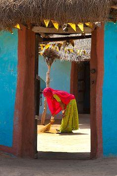 Dorpstafereel in Rajasthan. Foto: Jim Zucherman. Kijk voor meer reisinspiratie op www.nativetravel.nl