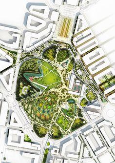 Bustler: Valencia Parque Central Proposal by West 8