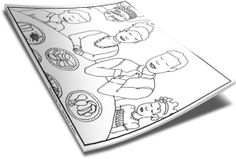 Thanksgiving Dinner Coloring Page  www.childrens-ministry-deals.com