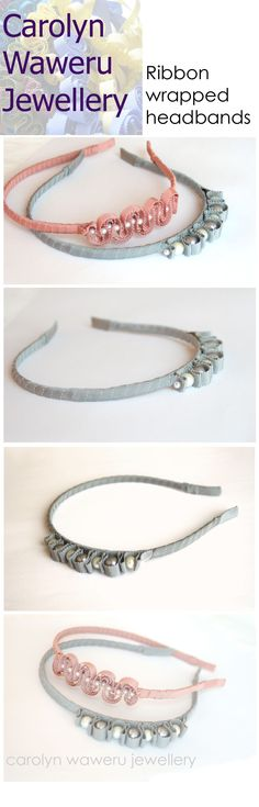 carolyn Waweru Jewellery- ribbon wrapped headbands, new styles available! #gifts #accessory