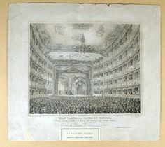 Interior of La Fenice (Venice) in 1854
