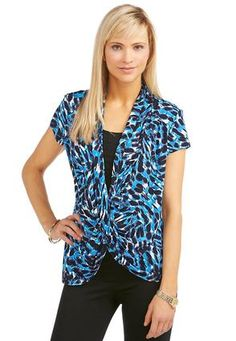 Cato Fashions Layered Look Envelope Top-Plus  #CatoFashions
