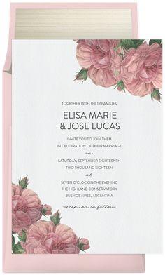 La Perla Roses by Robinson Paperie | Greenvelope.com