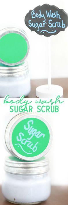 Diy Body Wash, Homemade Body Wash, Sugar Scrub Homemade, Diy Body Scrub, Sugar Scrub Recipe, Diy Scrub, How To Make Homemade, Sugar Scrub For Face, Nailart