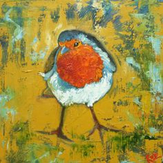Bird 97 10x10 inch Print from oil painting by Roz by RozArt, $24.00
