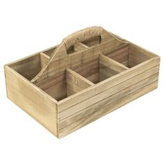 Antique Revival Small Wooden Milk Crate With Handle, Butter Finish    Vintage   Pinterest   Milk Crates