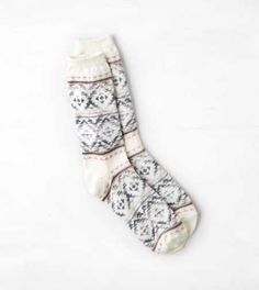 AEO Bright Print Crew Sock - Buy One Get One 50% Off
