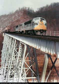 RailPictures.Net Photo: CRR 801 Clinchfield Railroad EMD F7(A) at Speers Ferry, Virginia by Collection of Ron Flanary